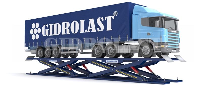 Ножничный (пантографный) подъемник для грузового автотранспорта