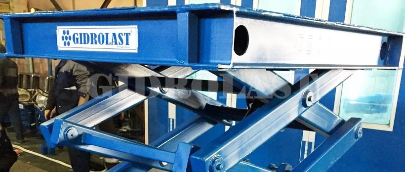 Порошковая окраска гидравлического оборудования - синяя