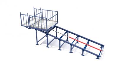 Наклонный консольный подъемник для склада или магазина